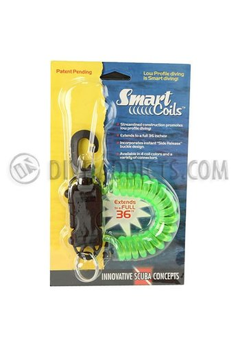Innovative Scuba Concepts Smart Coil w/ SS gate swivel -  Translucent Green Coil