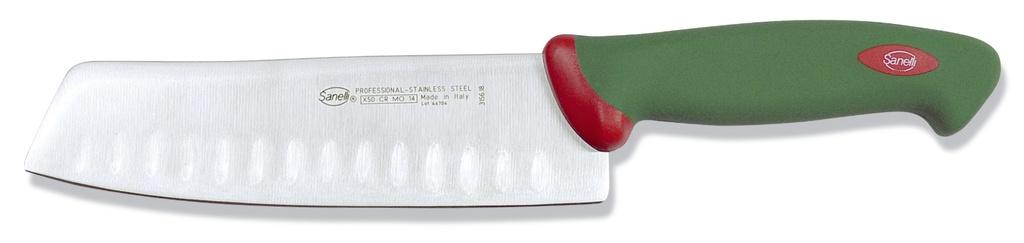 Couteau japonais alvéolé
