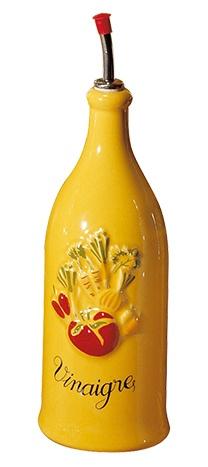 Vinaigrier en porcelaine jaune