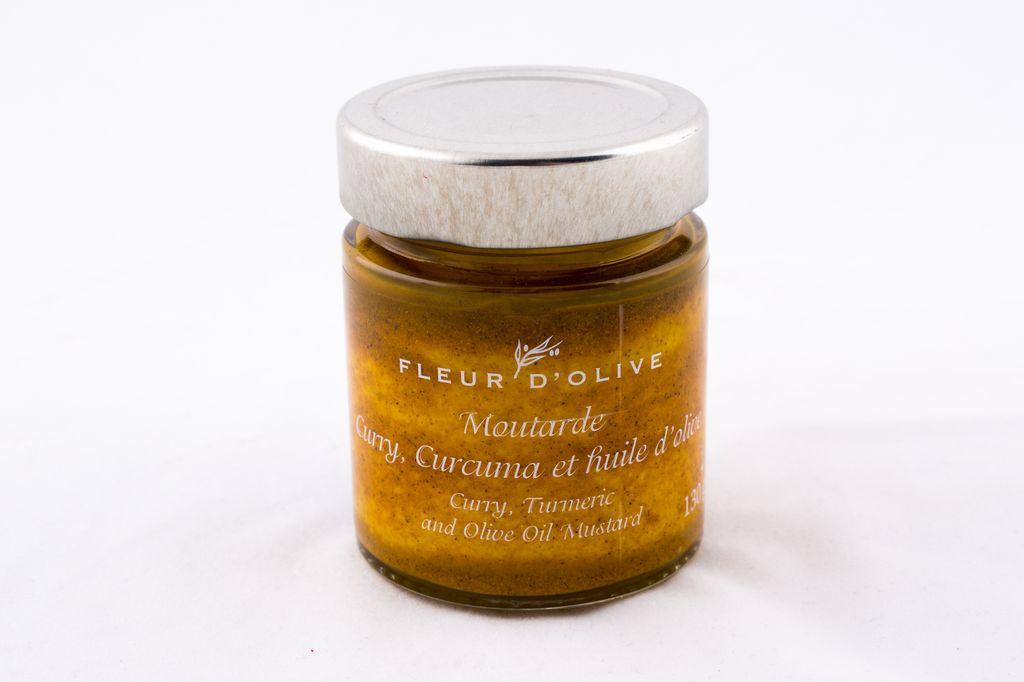 Moutarde curry, curcuma et huile d'olive
