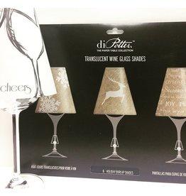 """Abat-jour pour coupe de vin """"holiday burlap shades"""""""