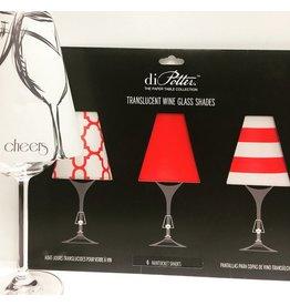 """Abat-jour pour coupe de vin """"Nantucket red"""""""