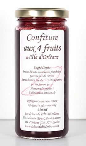 Confiture aux 4 fruits