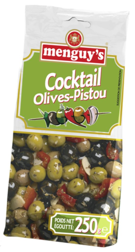 Olives cocktail-pistou