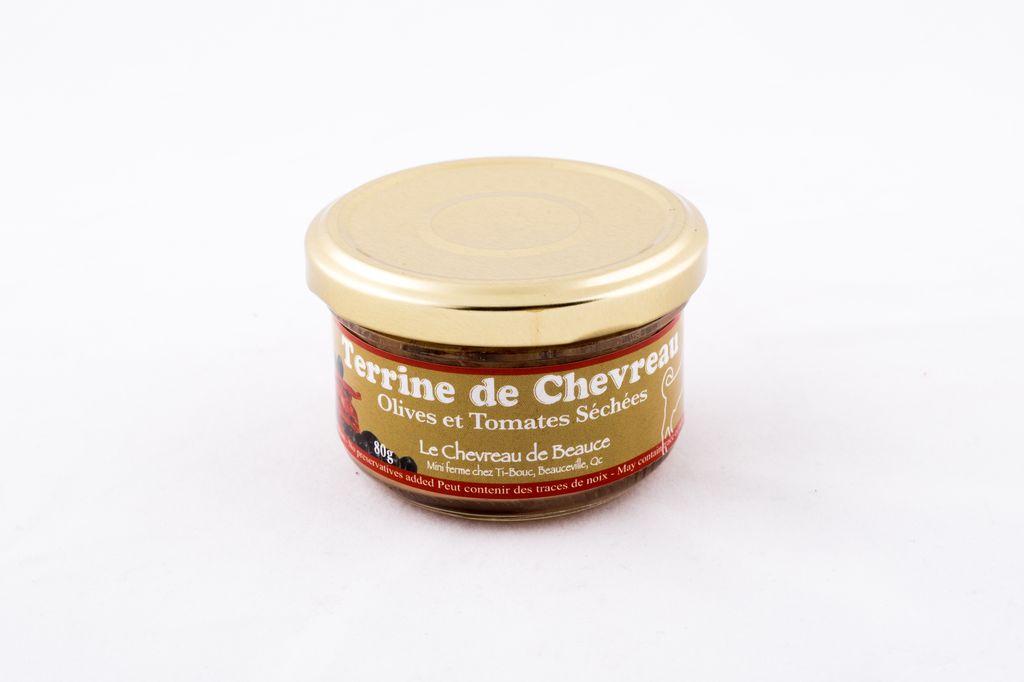 Terrine chevreau olives et tomates séchées