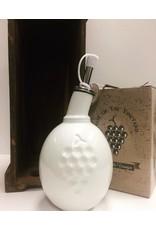 Bouteille de vinaigre balsamique en porcelaine blanche avec bouchon 250ml