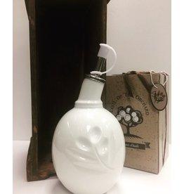 Bouteille d'huile d'olive en porcelaine blanche 250ml