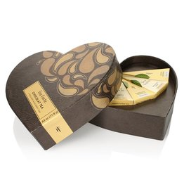 5 sortes de thé dans une boite en forme de coeur