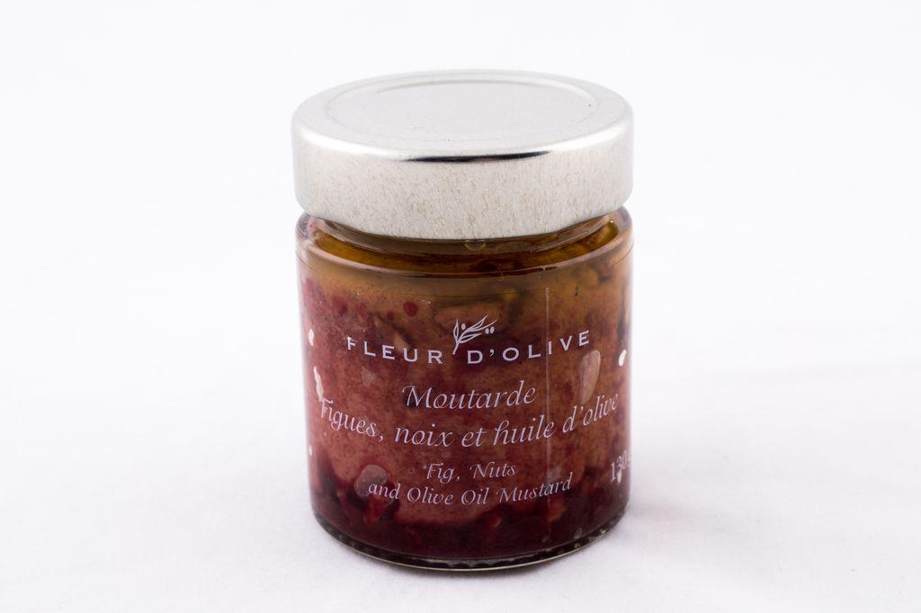 Moutarde figues, noix et huile d'olive