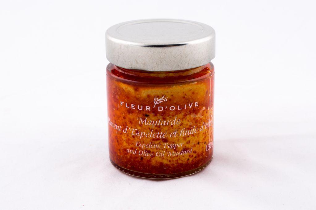 Moutarde piment d'espelette et huile d'olive