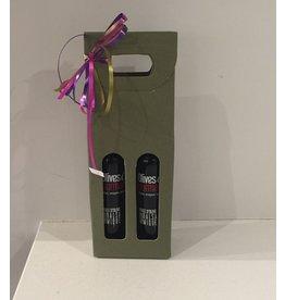 Boite cadeau beige ou verte pour 2 X 200ml