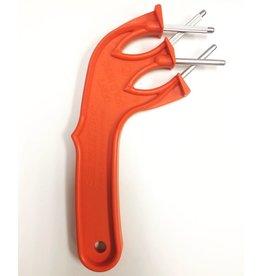 Aiguiseur à couteau orange