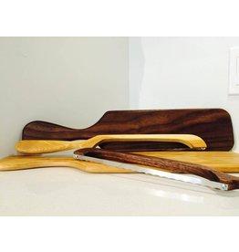 Planche à pain et couteau en bois de noyer blanc ou noir