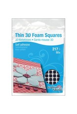 3L 3l mix black THIN foam squares