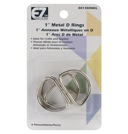 EZ craft and sew Metal D rings 1 inch