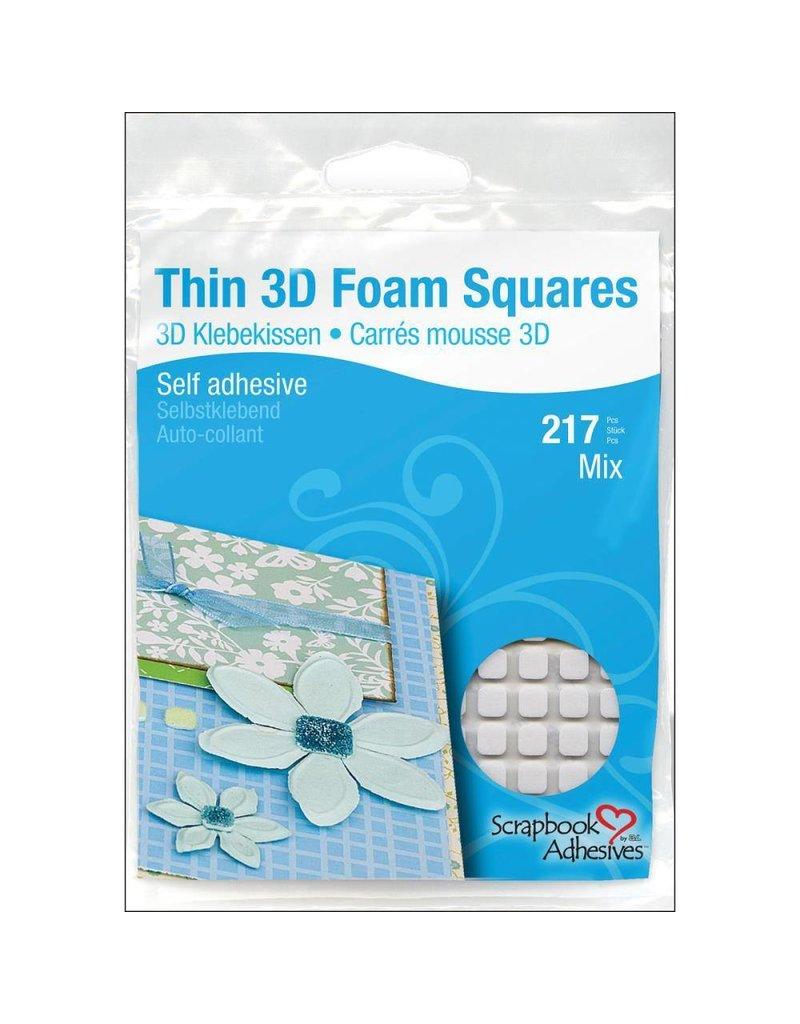 3L 3L mix white THIN foam squares