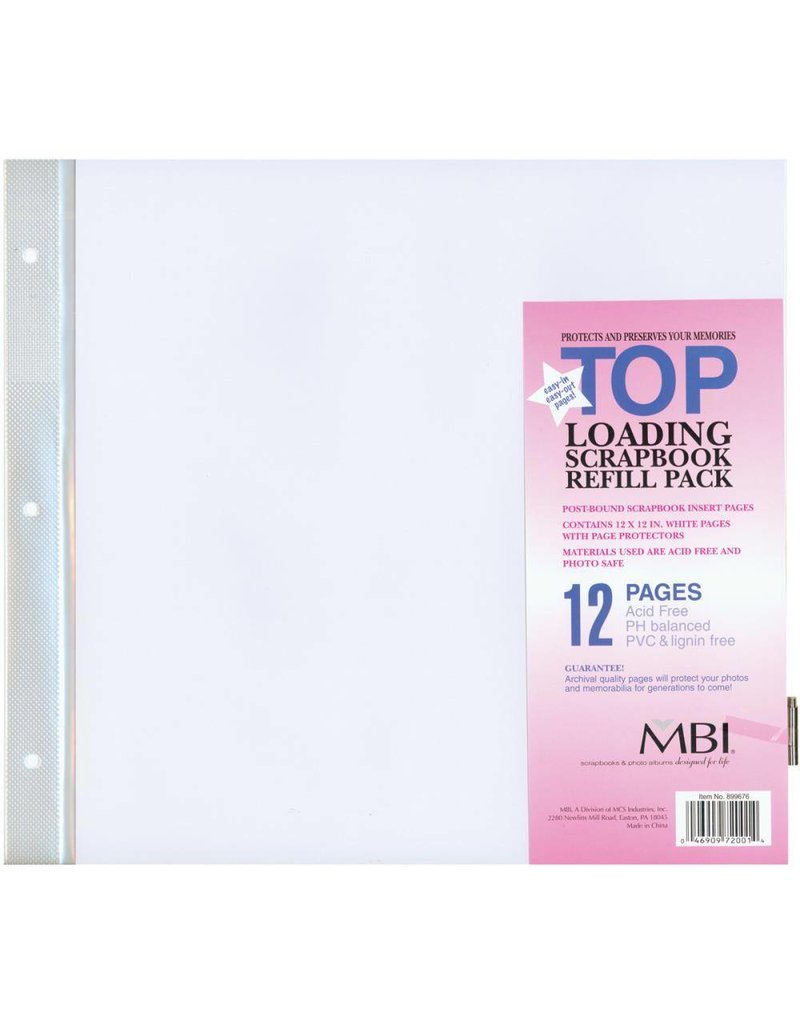 MBI 12x12 page protectors for MBI