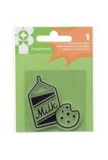 American Crafts AC snag em stamp milk and cookies