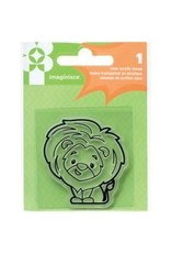 American Crafts AC snag em stamp lion