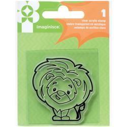 American Crafts AC snag em stamp lion