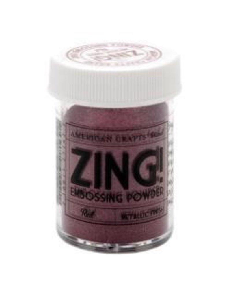 American Crafts AC zing metallic red embossing powder