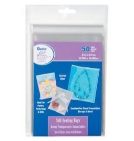 Darice self sealing bags 4.75x5.75 50 bags