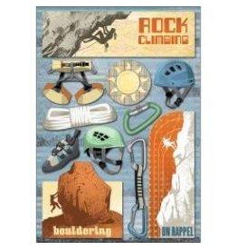 Karen Foster KF rock climbing sticker