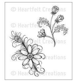Heartfelt Creation HC stamp feathered daisy