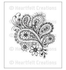 Heartfelt Creation HC stamp peacock paisley