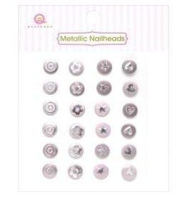 Queen & Co QC metallic nailheads pink