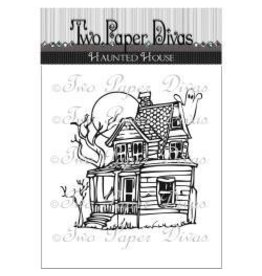 Two paper divas PD stamp haunted house