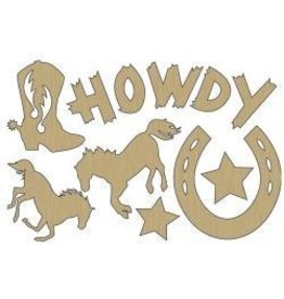 Adorn it AI wood shapes howdy