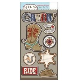 Adorn it AI cowboy die cut