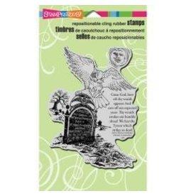 Stampendous SPD stamp owl tombstone