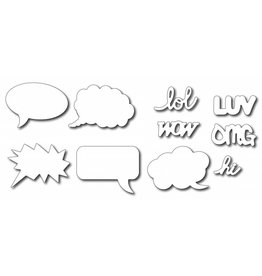 Frantic Stamper FS die Carton speech bubbles