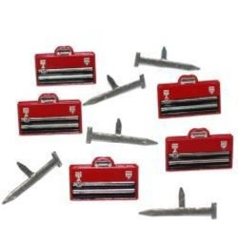 Eyelet Outlet EO brads tool box and nails
