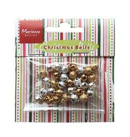 Marianne Design Card charm bells silver/gold