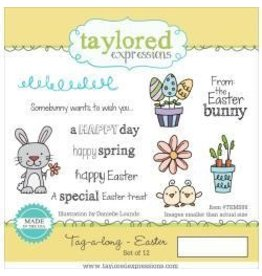Taylored Expressions TE stamp tag a long easter