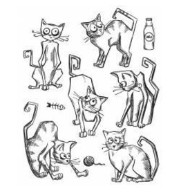 Stamper's Anomymous SA crazy cats stamps