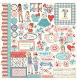 Photo PLay JN 12x12 sticker sheet paper dolls