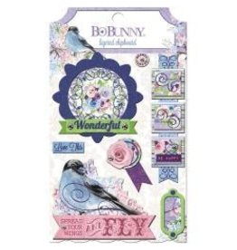 Bo Bunny BB chipboard secret garden