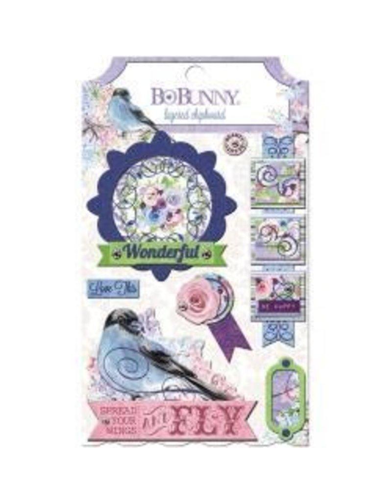 Bo Bunny BB chipboard secret garden