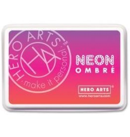 Hero Arts HA ink pad neon red to purple