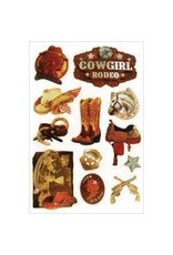 Multi Craft Cowgirl Rodeo 3D stickers