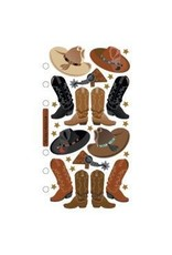 EK Success EK stickers cowboy boots repeat