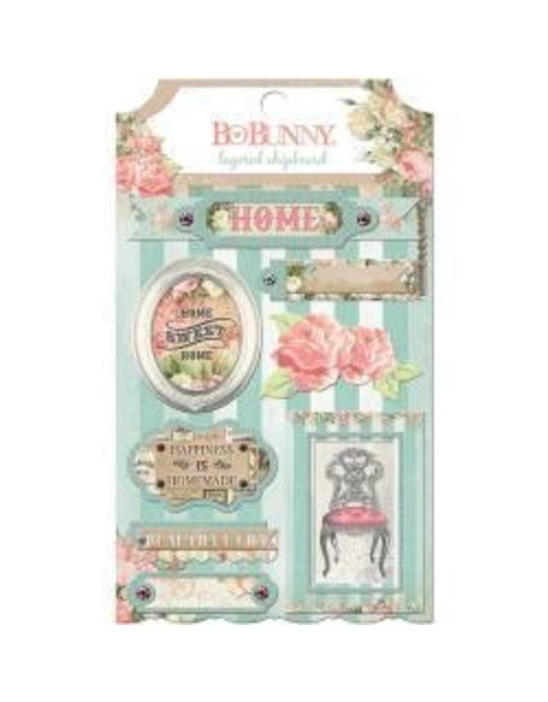 Bo Bunny BB layered chipboard Soiree
