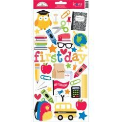 Doodlebug DB icon stickers back to school