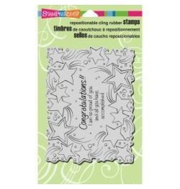 Stampendous SPD stamp congratulations stars