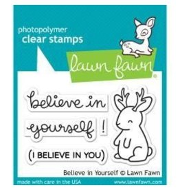 Lawn fawn LF stamp believe in yourself