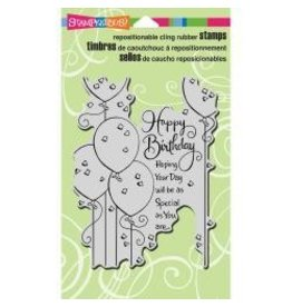 Stampendous SPD stamp birthday balloons